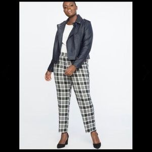 Eloquii Black White Plaid Pants NWT Sz 18